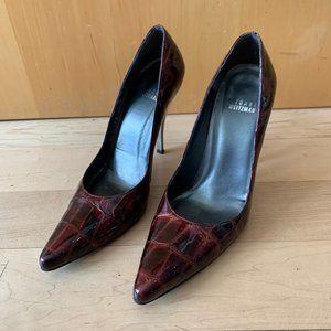 Stuart Weitzman Burgundy pointed toe heels sz 7.5